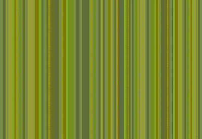 Digital Art - Woodland Moss - Stripes - Green by Val Arie