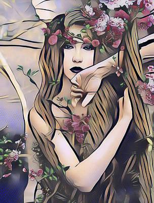 Digital Art - Woodland Nymph by Kathy Kelly