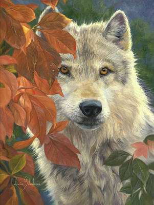 Leaves Painting - Woodland Prince by Lucie Bilodeau