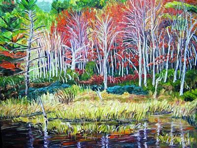 Woodland Reflections Art Print by Richard Nowak