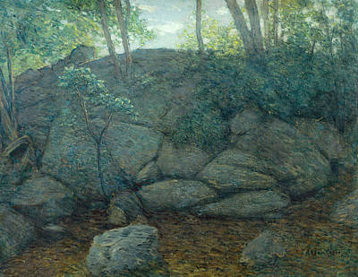 Painting - Woodland Rocks by Julian Alden Weir