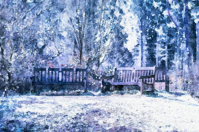 Snowy Trees Mixed Media - Woodland Snow  by Scott Carruthers