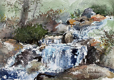 Painting - Woodland Stream by Monte Toon
