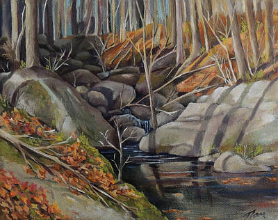 Painting - Woodland Stream by Nancy Griswold