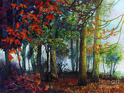 Print featuring the painting Woodland Trail by Hailey E Herrera