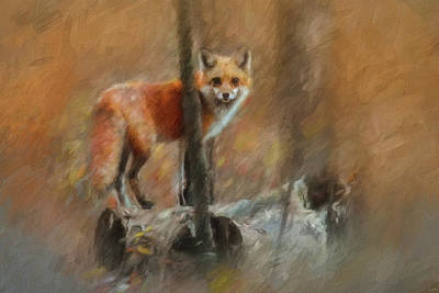 Painting - Woodland Visitor by Jai Johnson