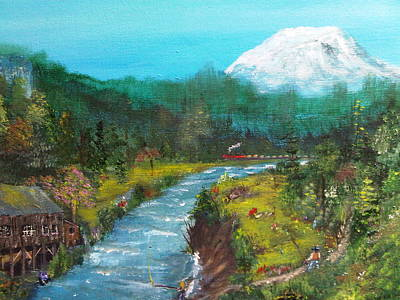 North Fork Painting - Woodland Washington by Tina Haeger