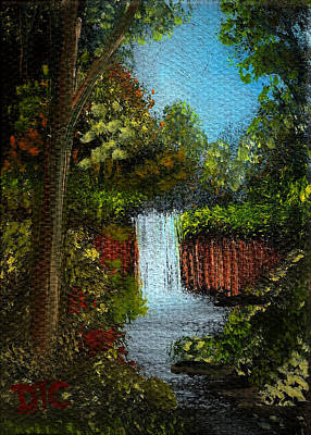 Painting - Woodland Waterfall  by Tom Conboy