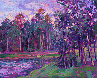 Painting - Woodlands Lake by Erin Hanson