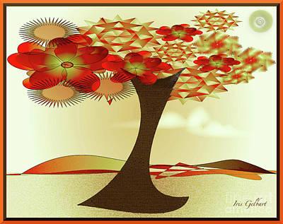 Digital Art - Woodland's Tree by Iris Gelbart