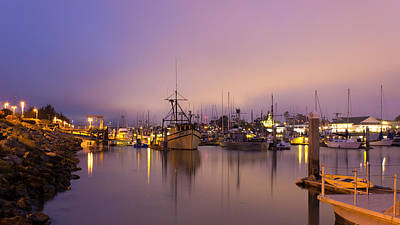 Wall Art - Photograph - Woodley Island Marina At Night by Dana Crandell