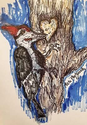 Woodpecker Mixed Media - Woodpecker by Geraldine Myszenski