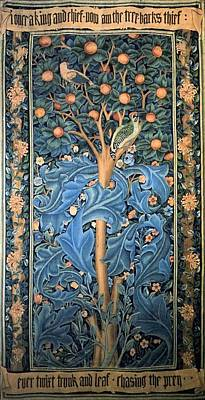 Painting - Woodpecker Tapestry by William Morris