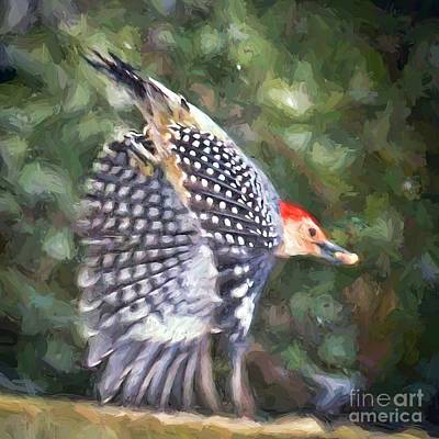 Painting - Woodpecker Wings by Kerri Farley