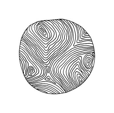 Fingerprint Drawing - Woodprint 1 by Cortney Herron