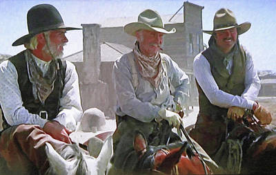 Cattle Drive Photograph - Woodrow - Gus - Jake by Donna Kennedy