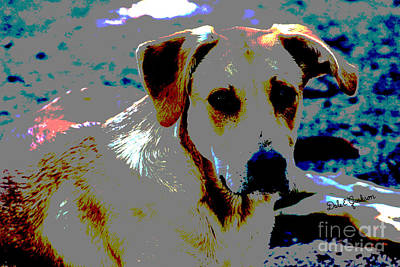 Animal Lover Digital Art - Woodrow The Pop Art Dog  by Dale Jackson
