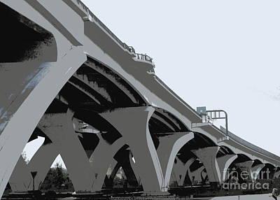 Woodrow Wilson Bridge 1 Art Print by Randall Weidner