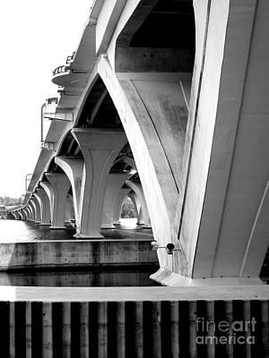Woodrow Wilson Bridge 10 Art Print by Randall Weidner