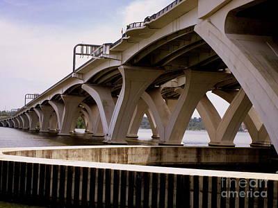 Woodrow Wilson Bridge 11 Art Print by Randall Weidner
