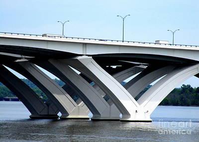 Woodrow Wilson Bridge 3 Art Print by Randall Weidner