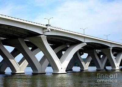 Woodrow Wilson Bridge 4 Art Print by Randall Weidner