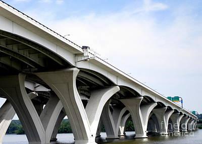 Woodrow Wilson Bridge 5 Art Print by Randall Weidner