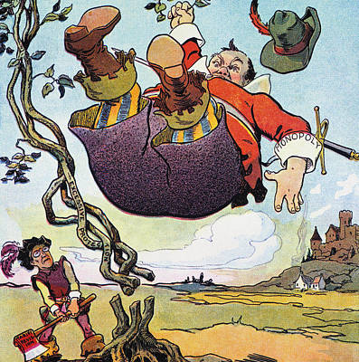 Woodrow Wilson Cartoon Print by Granger
