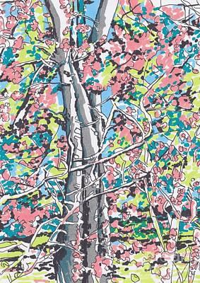 Woods #3 Print by Carolyn Alston Thomas