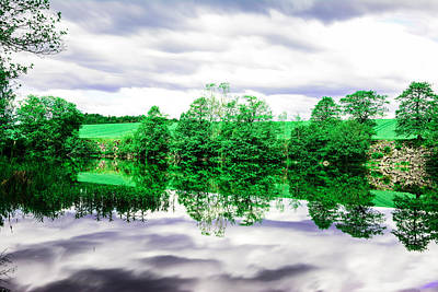 Sweden Digital Art - Woods And Water by Tommytechno Sweden