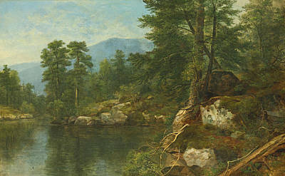 Painting - Woods By A River by Asher Brown Durand