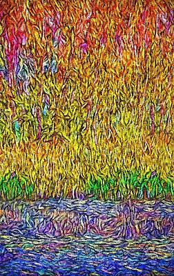 Digital Art - Woods By The Lake - Colorado by Joel Bruce Wallach