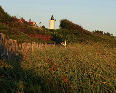 Photograph - Woods Hole Nobska Light Wooden Fence Falmouth Ma by Toby McGuire