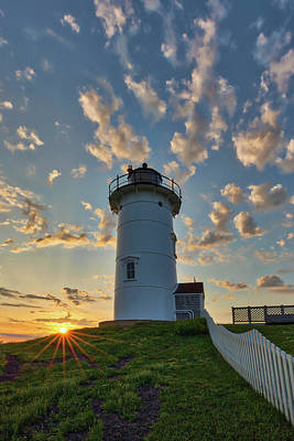 Photograph - Woods Hole Nobsla Light by Juergen Roth