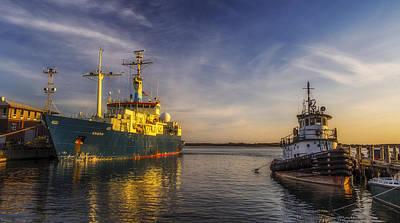 Massachussetts Photograph - Woods Hole Ship Yard by Mark Papke