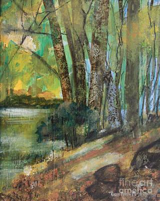 Painting - Woods In The Afternoon by Robin Maria Pedrero