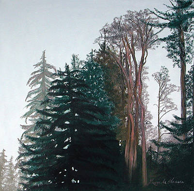 Painting - Woods Mist by Lucinda  Hansen