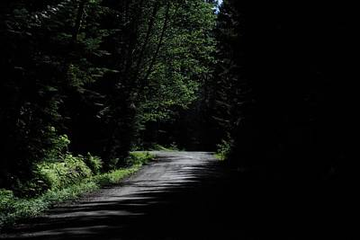 Photograph - Woods, Road And The Darkness by John Rossman