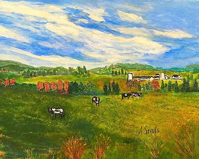 Painting - Woodsom Farm Amesbury by Anne Sands