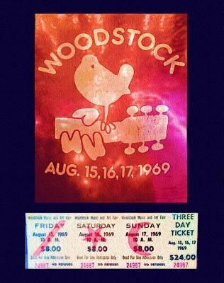 Digital Art - Woodstock August Anniversary by Alec Drake