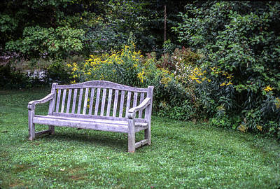 Photograph - Woodstock Bench by Samuel M Purvis III