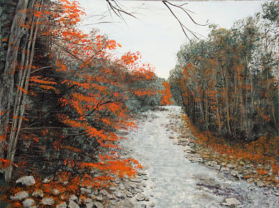 Painting - Woodstock Creek by Lawrence Holofcener