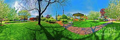 Woodstock Square Historic District 360 Spring Art Print