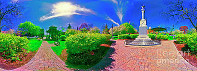 Photograph - Woodstock Square Spring  East by Tom Jelen