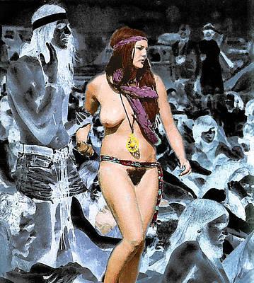 Woodstock Woman Art Print