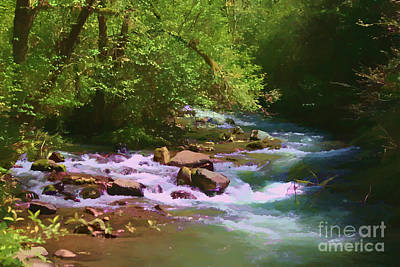 Photograph - Woodsy River by Erica Hanel
