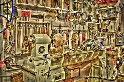 Photograph - Woodturning Workshop by Irwin Seidman
