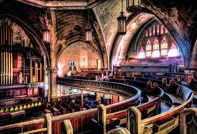 Painting - Woodward Avenue Presbyterian Church by Christopher Arndt