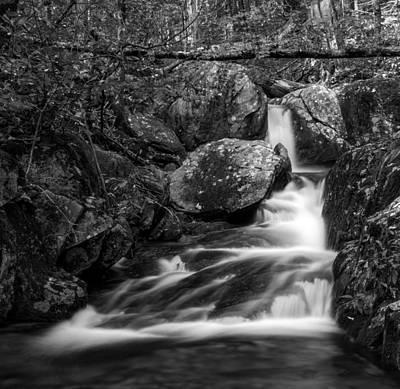 Photograph - Woodward Falls-bw by Joye Ardyn Durham