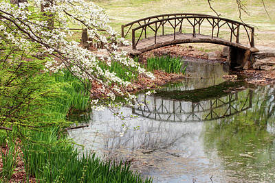 Photograph - Woodward Park Bridge In Spring - Tulsa Ok by Gregory Ballos